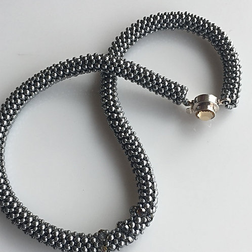 Silver on Silver Choker Necklace