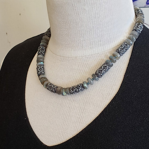 Labradorite Beaded Bead Necklace