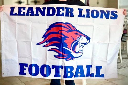 3x5 Leander Lions Football Flag