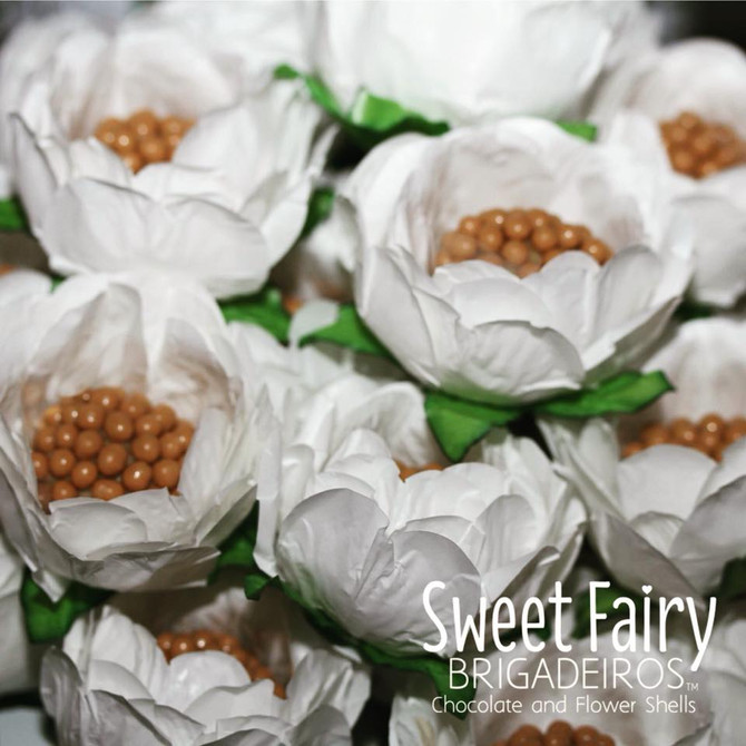 Brigadeiro and Flower Shells