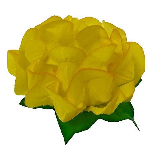 Danielle Yellow Fabric Flower Shells