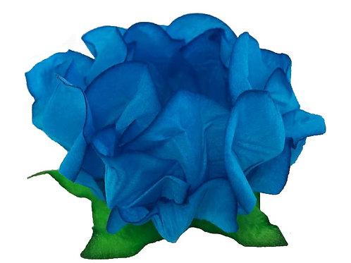 Danielle Blue Fabric Flower Shell