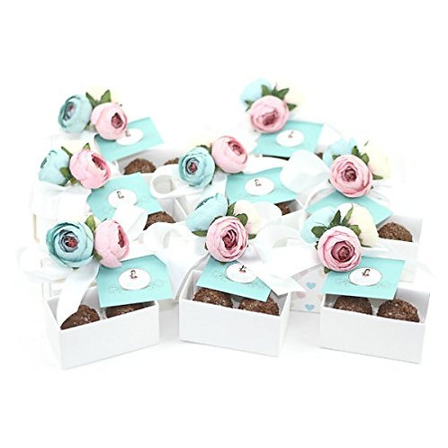 Brigadeiro Gift Favor Box 2 Pieces - Set of 8 boxes
