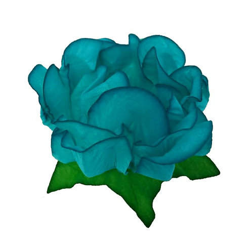 Danielle Turquoise Fabric Flower Shell