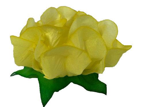 Danielle Light Yellow Fabric Flower Shell
