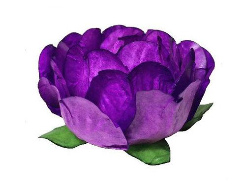 Bella Purple Paper Flower Shells
