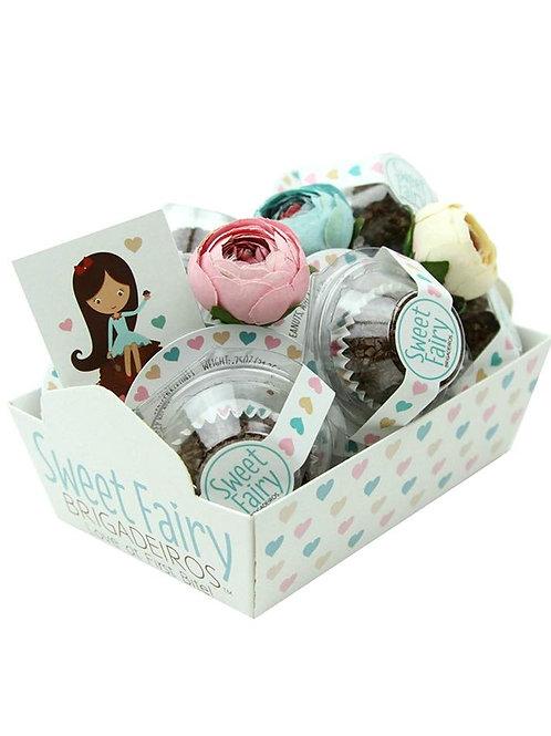 Brazilian Chocolate Truffle Brigadeiro Gift Basket 8 Pieces Milk Chocolate