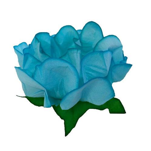 Danielle Light Turquoise Fabric Flower Shell