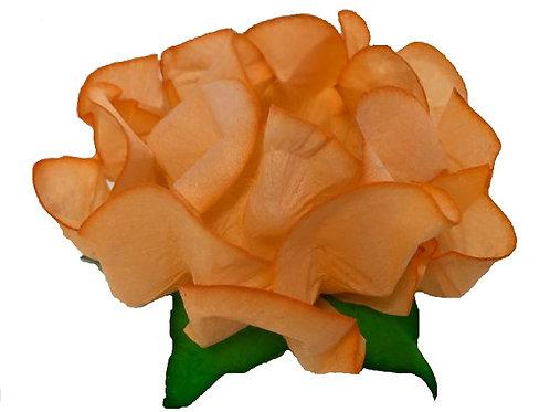 Danielle Peach Fabric Flower Shell