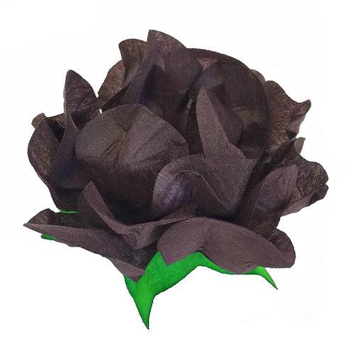 Danielle Chocolate Fabric Flower Shells