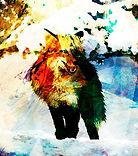 Wolf-Malerei