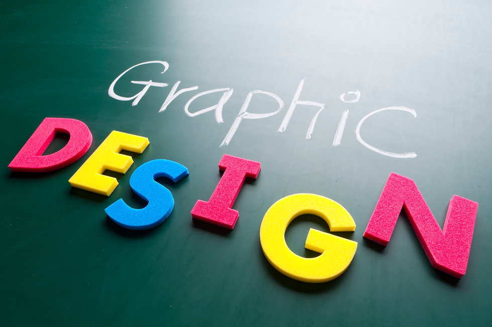 Graphic design concept, colorful words o
