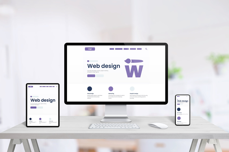 Responsive web desing studio page promot