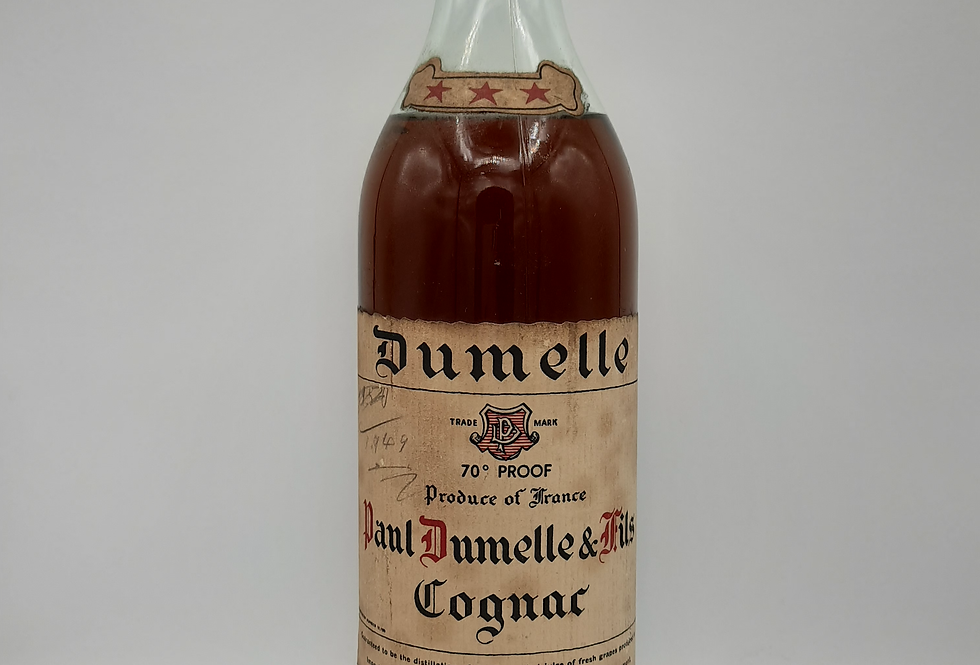 Dumelle 70 proof 1940's Cognac