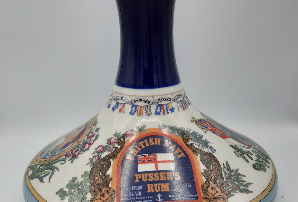 Pusser's British Navy Rum Admiral Lord Nelson Ship's Decanter 1980s - , 100cl