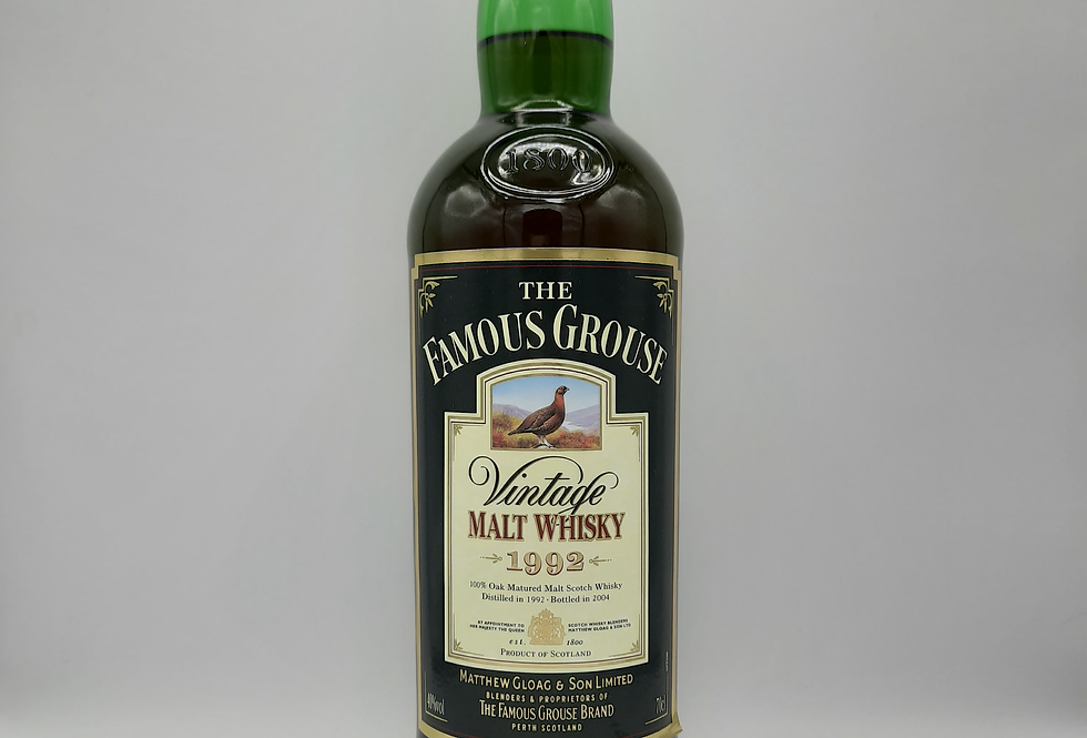 1992 Famous Grouse Malt 12 year old