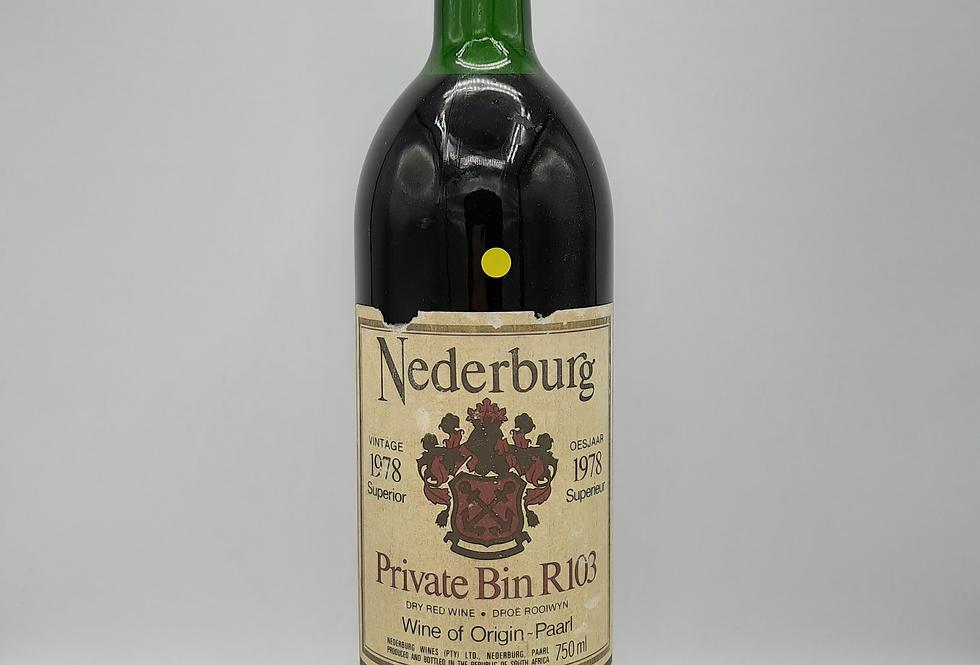 Nederburg 1978 Private Bin R103 Cabernet Sauvignon - Shiraz