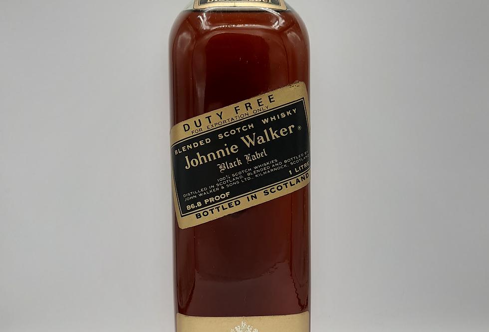 Johnnie Walker Black Label 1970's Litre