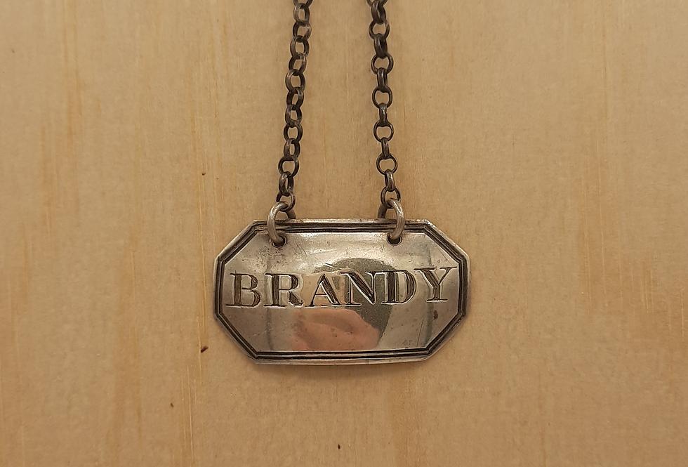 'Brandy' Decanter Label 1819 London