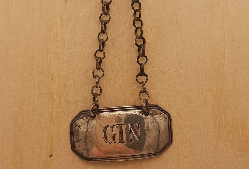 'Gin' Decanter Label 1825 London