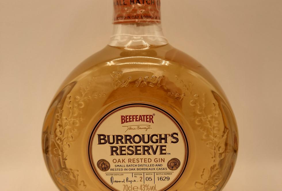 Burrough's Reserve Gin Oak Rested  Ed 2  Batch 5 Bot 1629