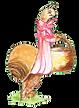 escargot avec panier
