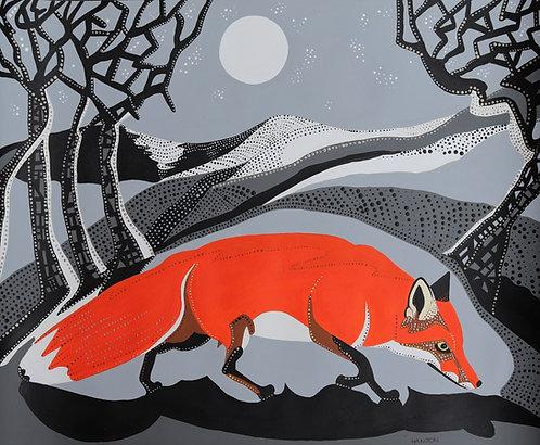 Fox In The Moonlight