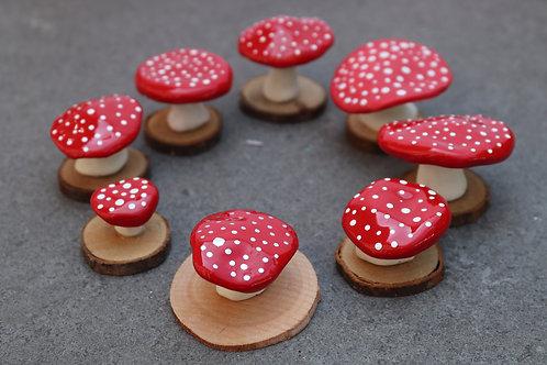 Ceramic Toadstools