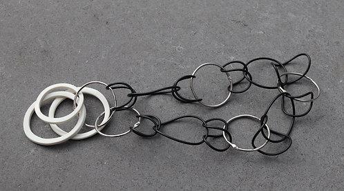 Metallic Black Hoop Necklace