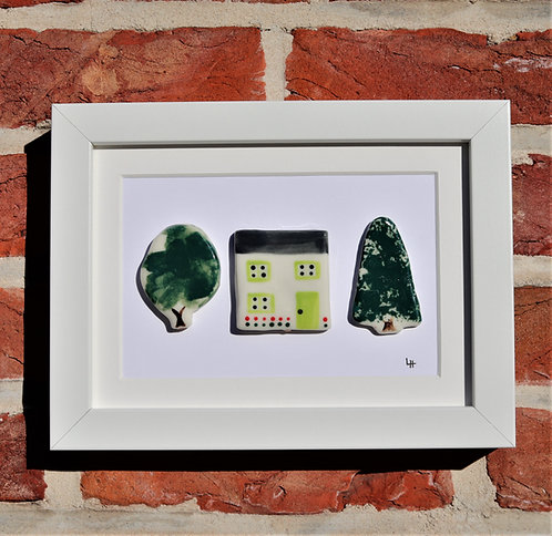 Cottage and two trees