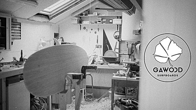 Atelier shape longboard surf bois Gawood Pont l'abbé combrit