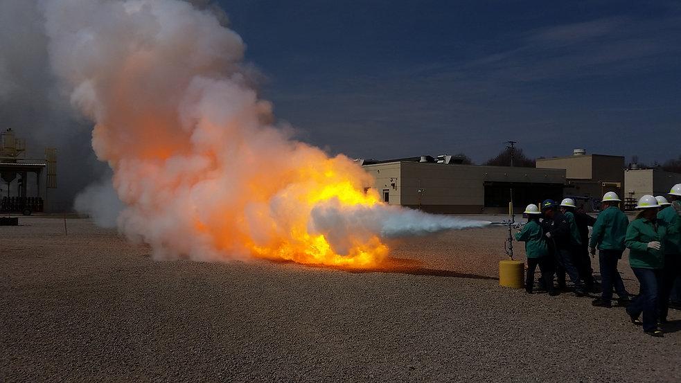 Pressurized Liquid Propane Gas Fire Whee