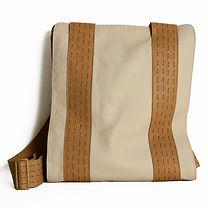 Minimal Leather backpack designed by Elena Vandelli