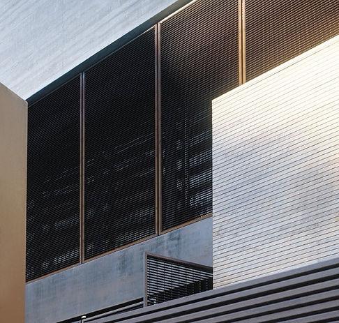 Minimal bioclimatic house, modern bioclimatic house, concrete minimal house