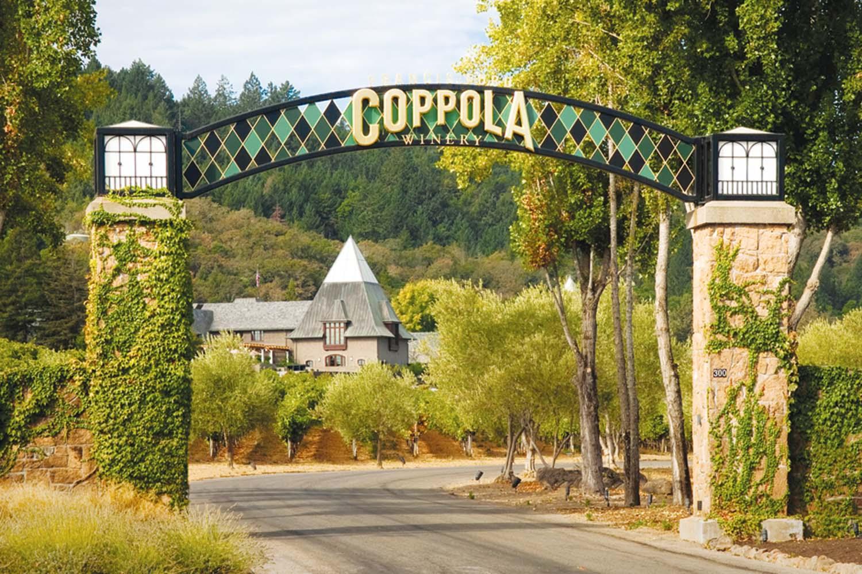 Coppola Winery Entrance Cardinal Transportation Wine Tours