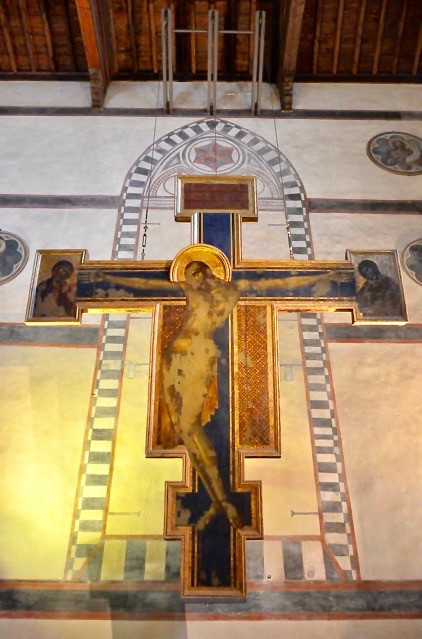Cimabue's Crucifix, partially restored after the flood