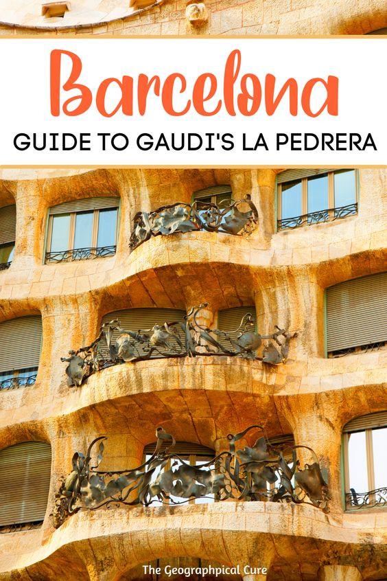 ultimate guide to Gaudi's La Pedrera, a must see landmark in Barcelona