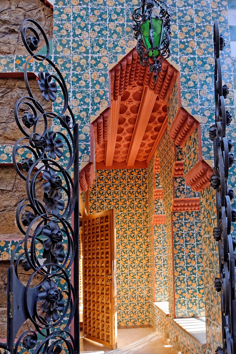 marigolds on the exterior and interior of Casa Vicens