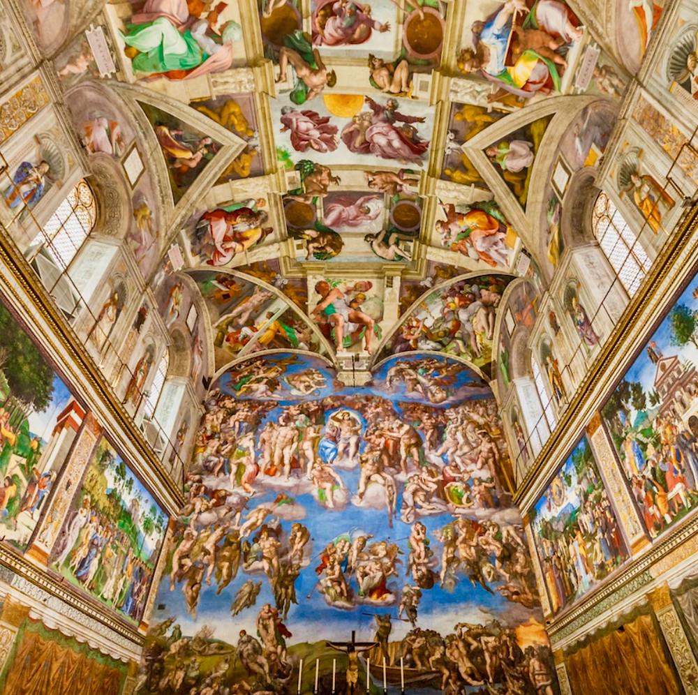 Michelangelo frescos in the Sistine Chapel
