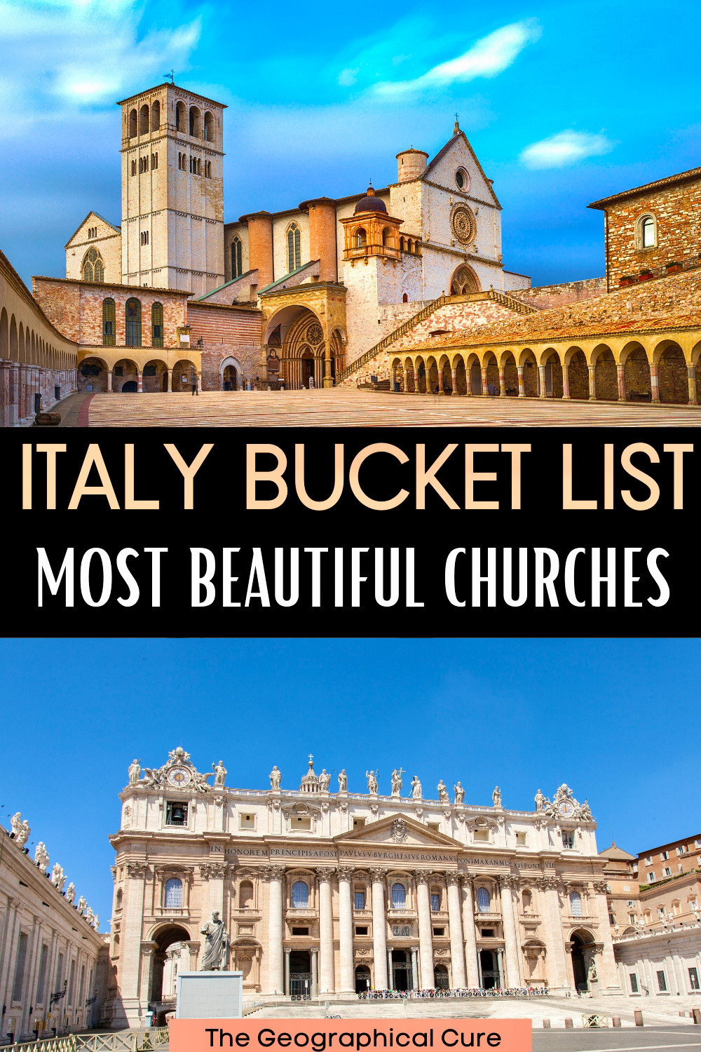 guide to Italyl's most beautiful churches, which are must visit landmarks in Italy