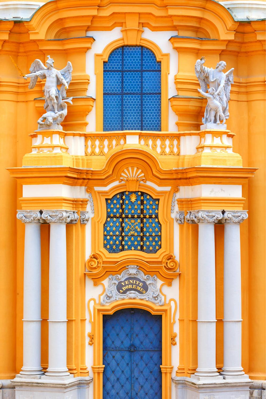 facade detail Melk Abbey