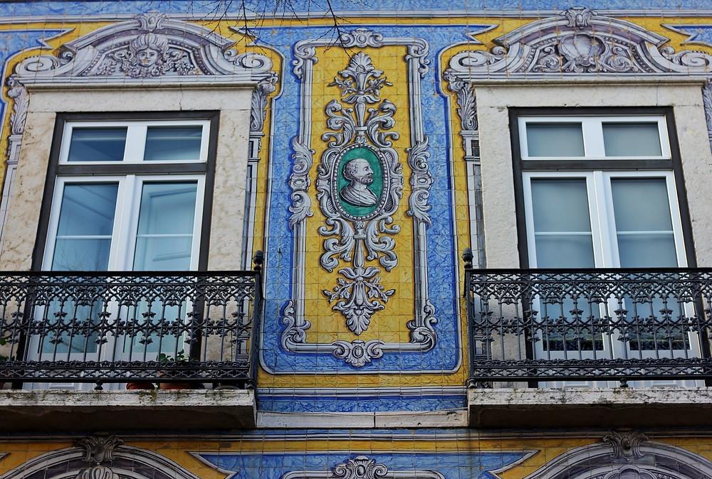 the 1860 Campo de Santa Clara building in Lisbon, one of the most beautiful facades in Lisbon