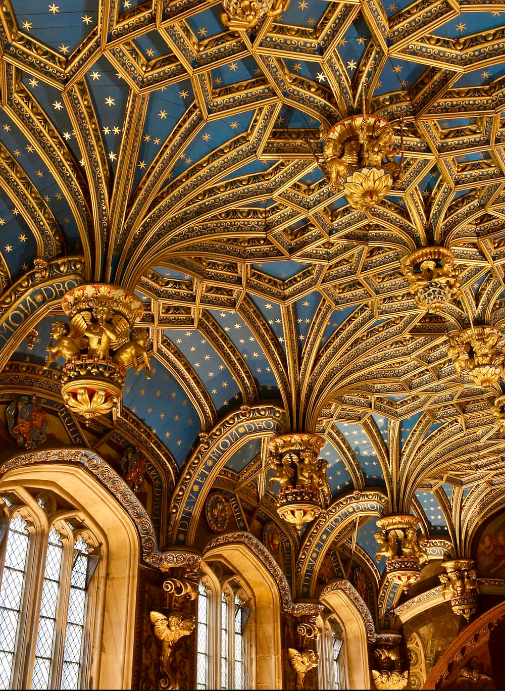 the ceiling of the Royal Chapel