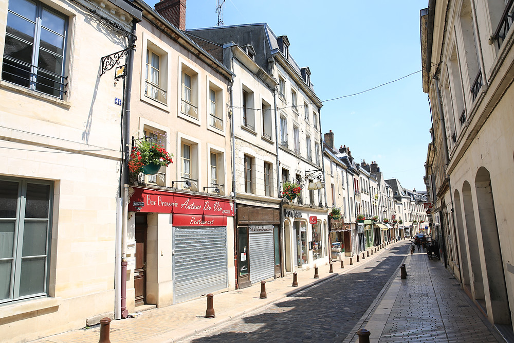 street in the historic center of Laon France