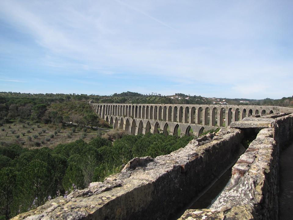 Pegoes Aqueduct near Tomar