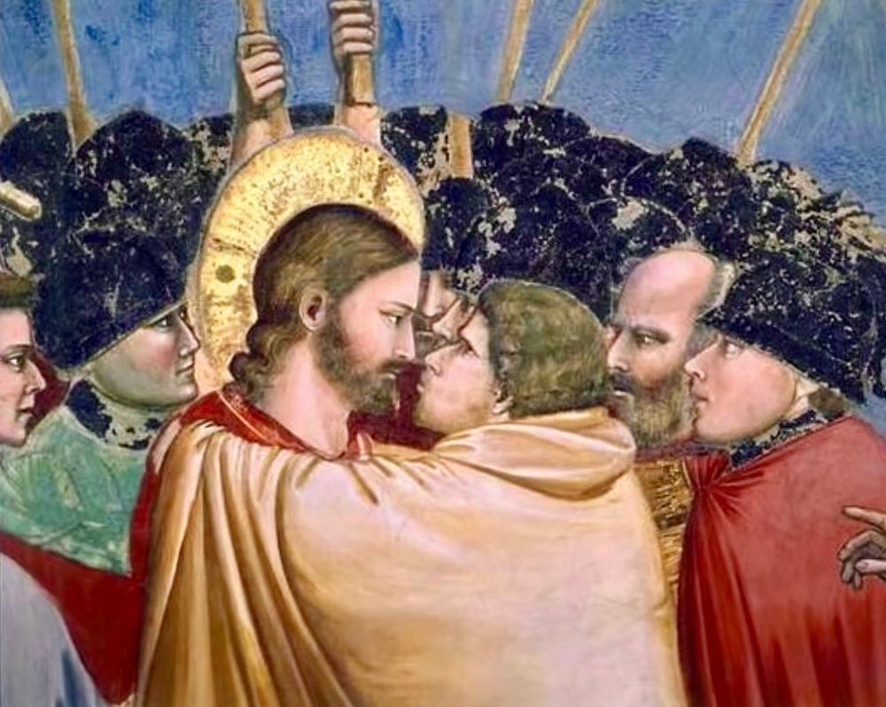 the climactic Kiss of Judas