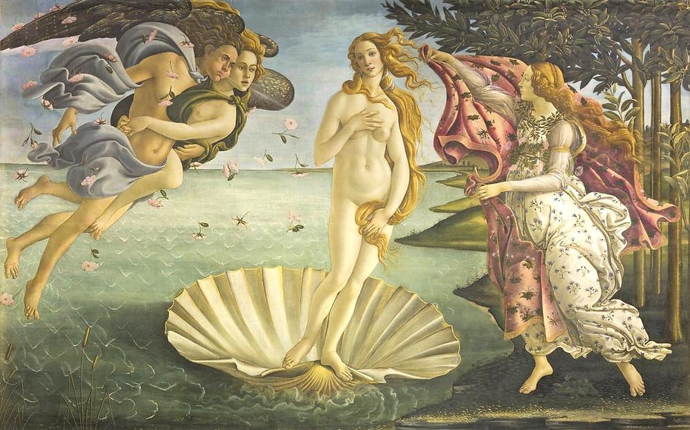 Sandro Botticelli's famous Birth of Venus in Florence's Uffizi Gallery