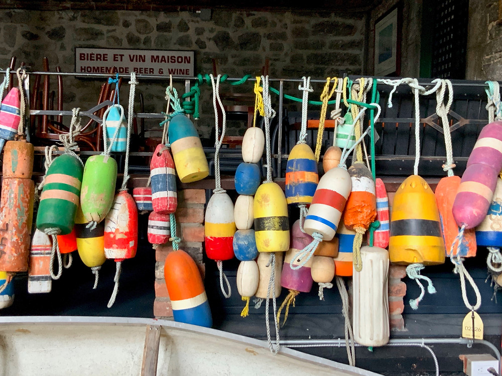buoys on display in the Old Port
