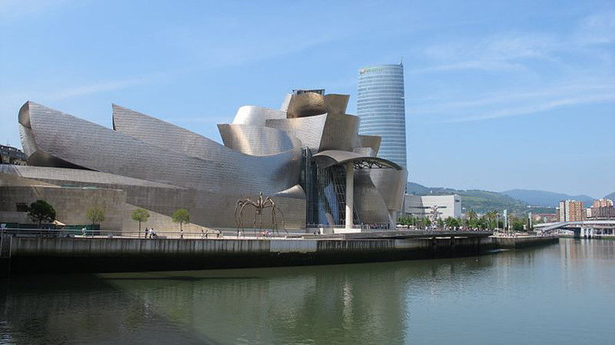 the iconic Guggenheim Museum in Bilbao Spain, designed by Frank Gehry