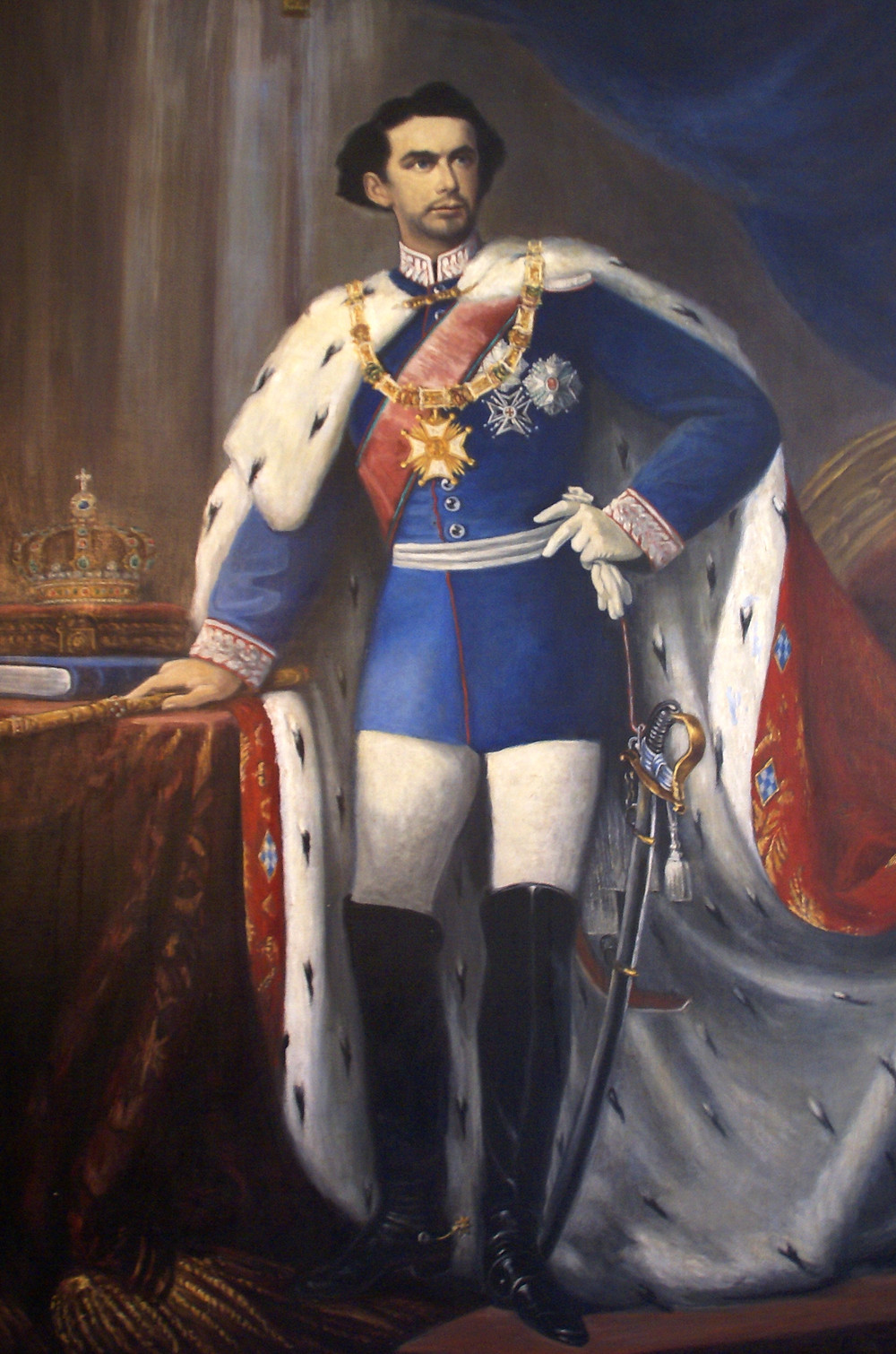 Mad King Ludwig II, born in the Queen's Bedroom of Nymphenburg Palace